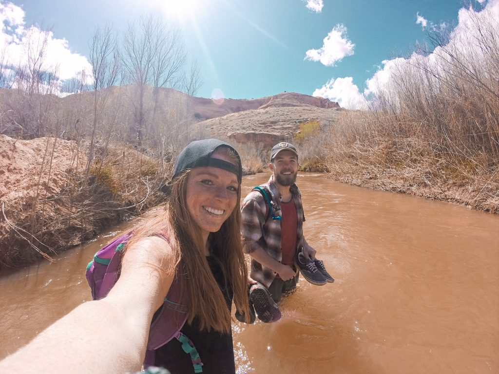 The deepest river crossing we encountered on the hike