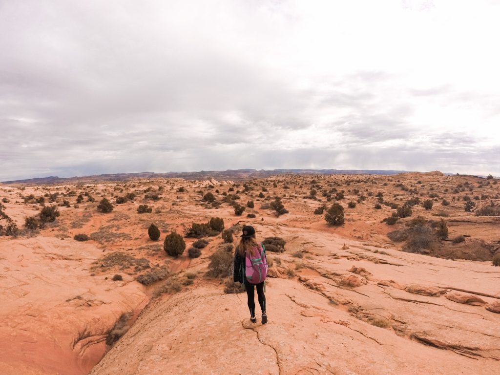 The vast slickrock approach to the Escalante River