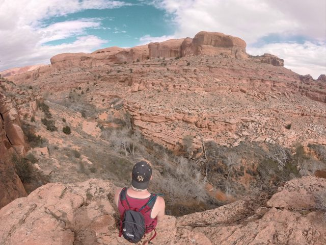 Looking over the Escalante River before our descent into the canyon
