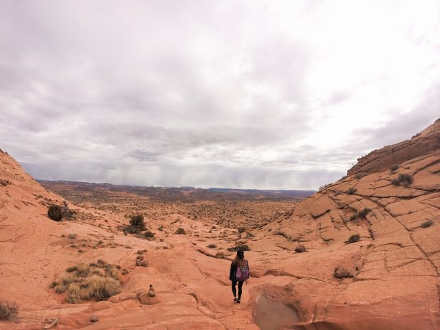 The beautiful Escalante landscape with not a human soul in sight