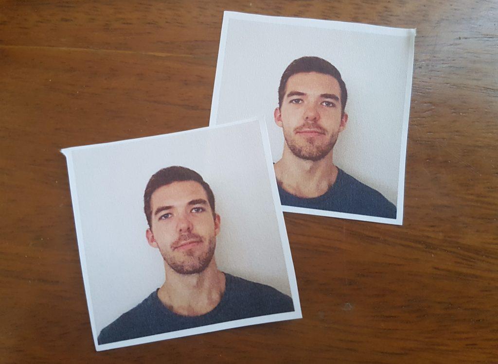 Print two 2x2 passport-sized photos