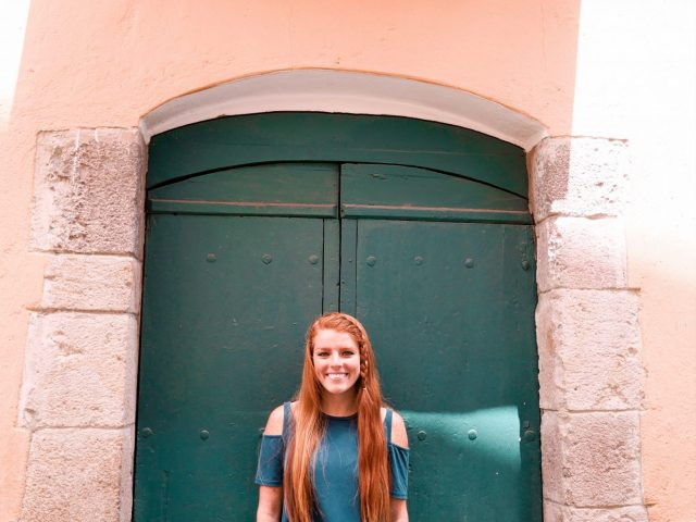 There are many charming doors and colorful walls that make for great photo ops