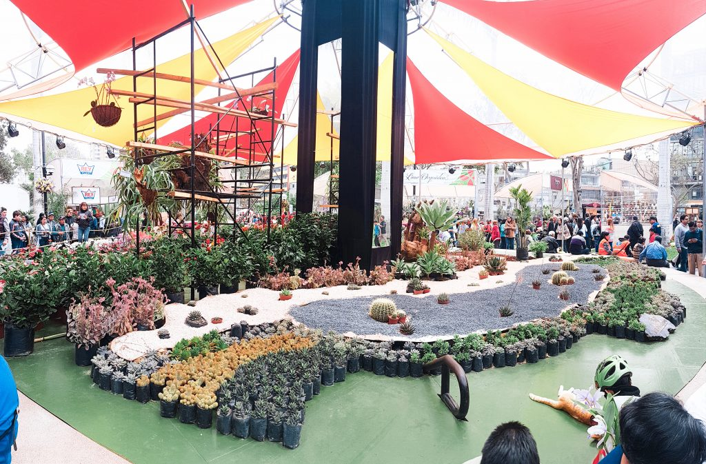 The flower festival is one of the many events held in Parque Kennedy