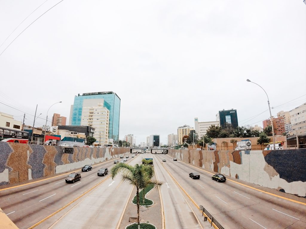 This is the least amount of traffic you'll ever see on the highway running through Lima