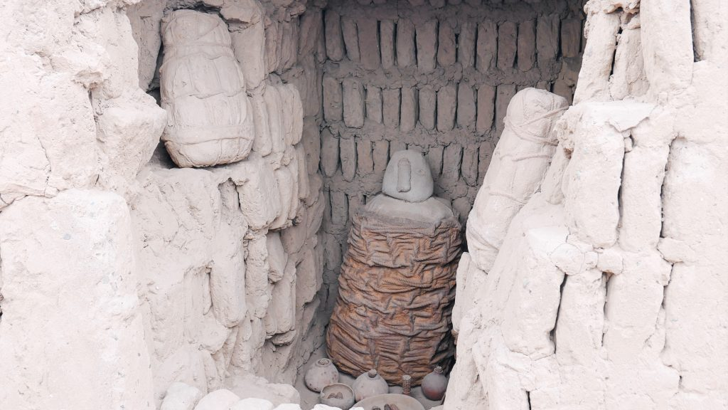 One of the burial chambers discovered in the Huaca Pucllana ruins