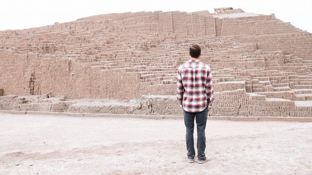 The truncated ceremonial pyramid at Huaca Pucllana