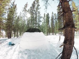 Winter Camping up Poudre Canyon: An Igloo Under the Stars