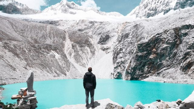 Taking in the views after reaching Laguna 69