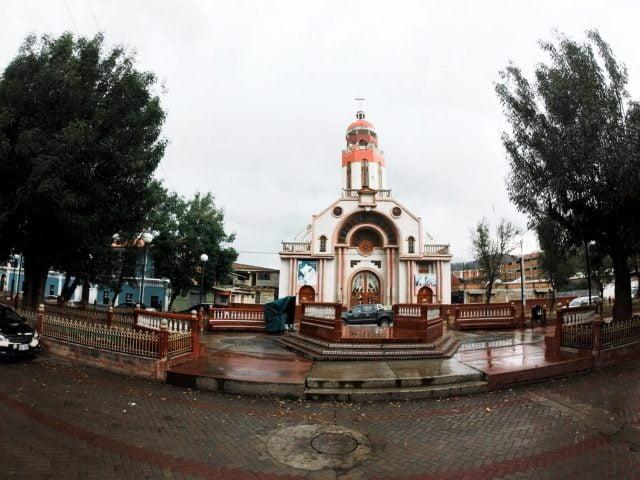 Quaint church on the side streets of Huaraz