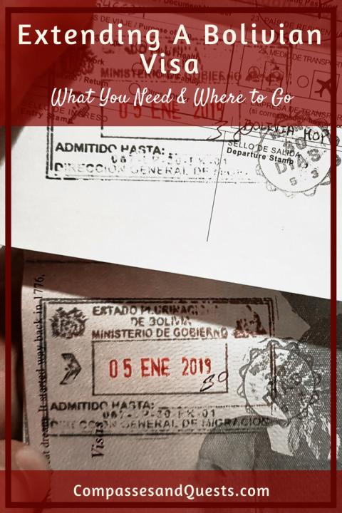 Extending a Bolivian Visa