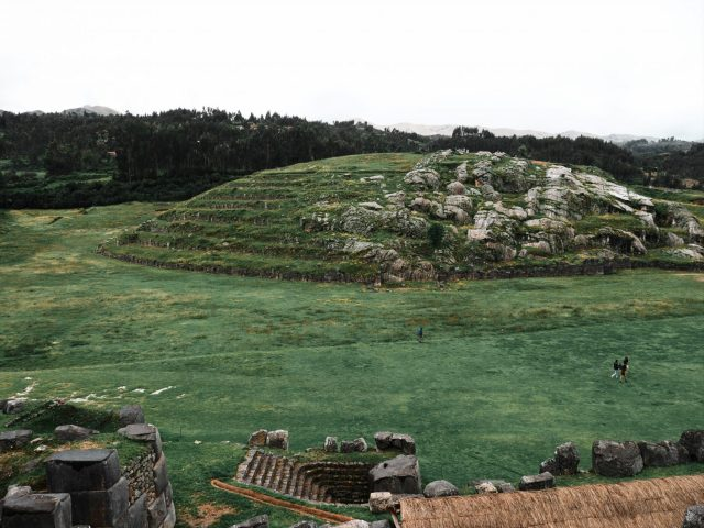 The Sacsayhuaman Ruins sit just above Cusco
