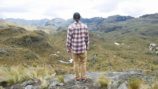 Matt overlooking the beautiful Cajas National Park