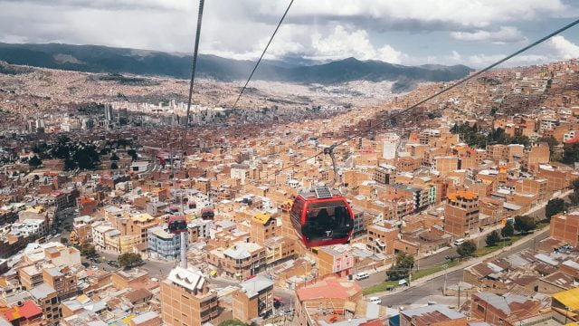 Riding the Red Line to El Alto was one of our favorite things to do in La Paz