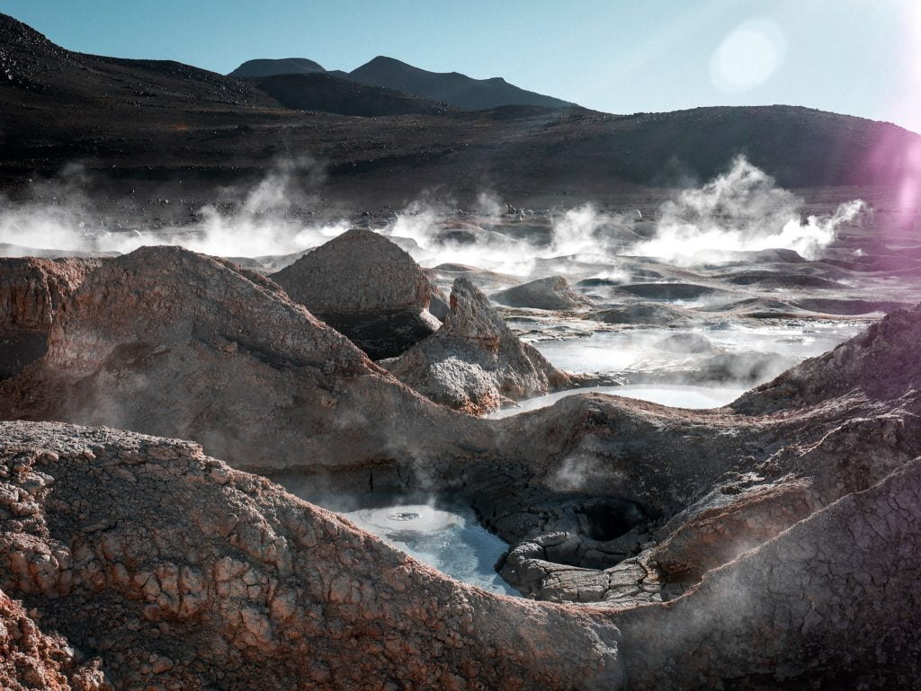 Boiling pools found in the middle of nowhere