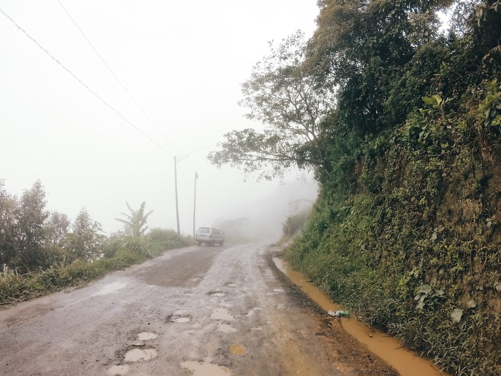 A foggy and rainy day in Coroico