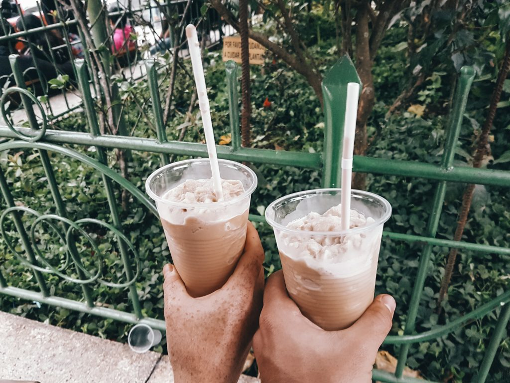Coffee slushy in the main plaza