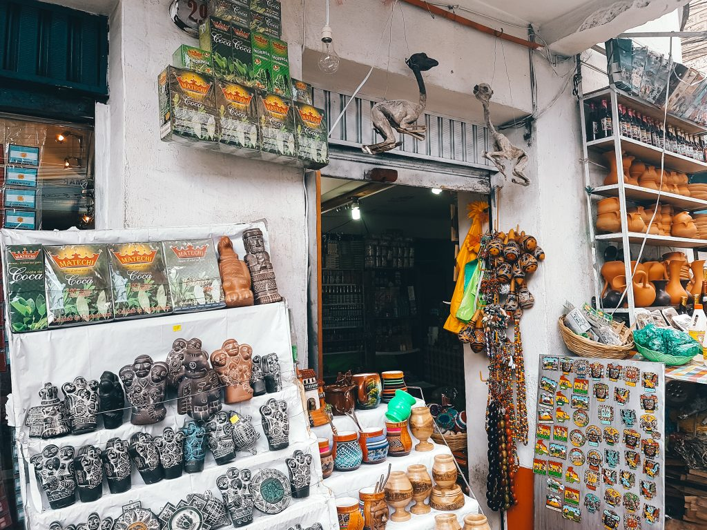 There are walking tours that hit the Mercado de Brujas, but this can easily be done on your own