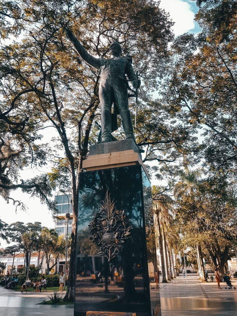 A beautiful statue in one of the many plazas in Santa Cruz De La Sierra
