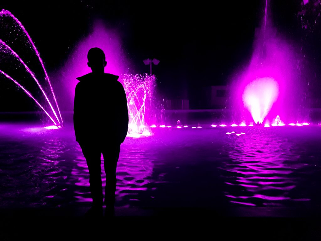 Cool silhouettes and colors made for cool pictures