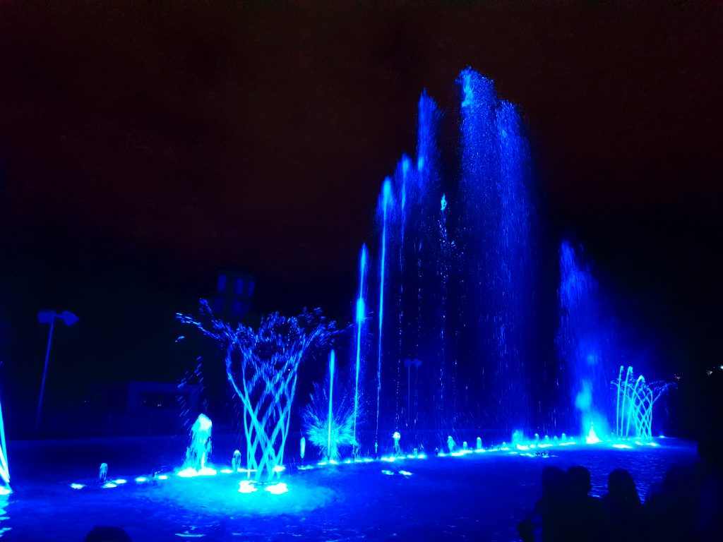 There were some pretty cool water features during the show