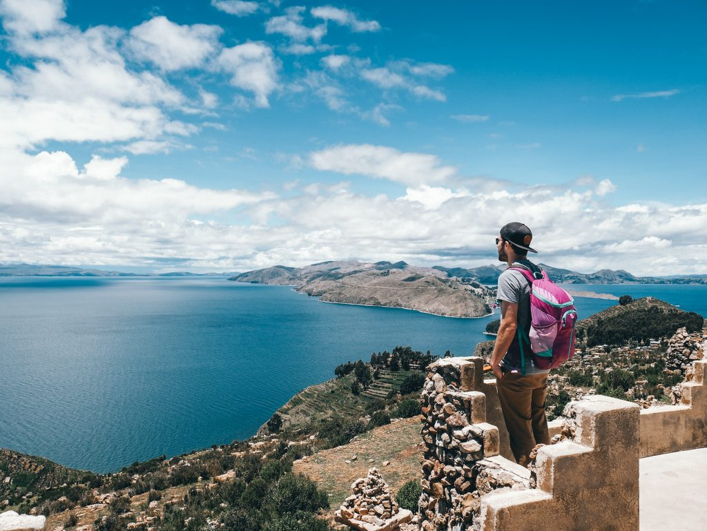 Isla Del Sol offers many beautiful views of the Andes