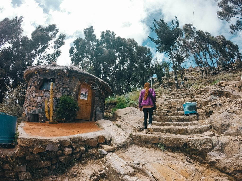 The little hut where you pay the entrance to see La Horca Del Inca