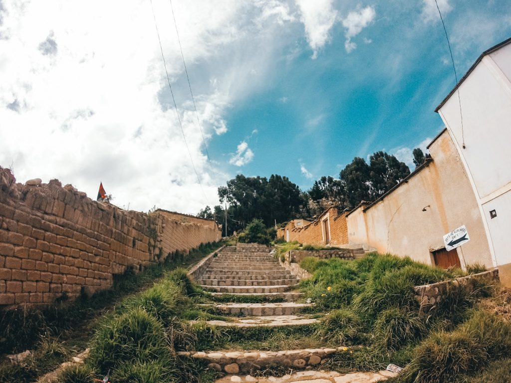 The stairway leading to the start of the trail to La Horca Del Inca