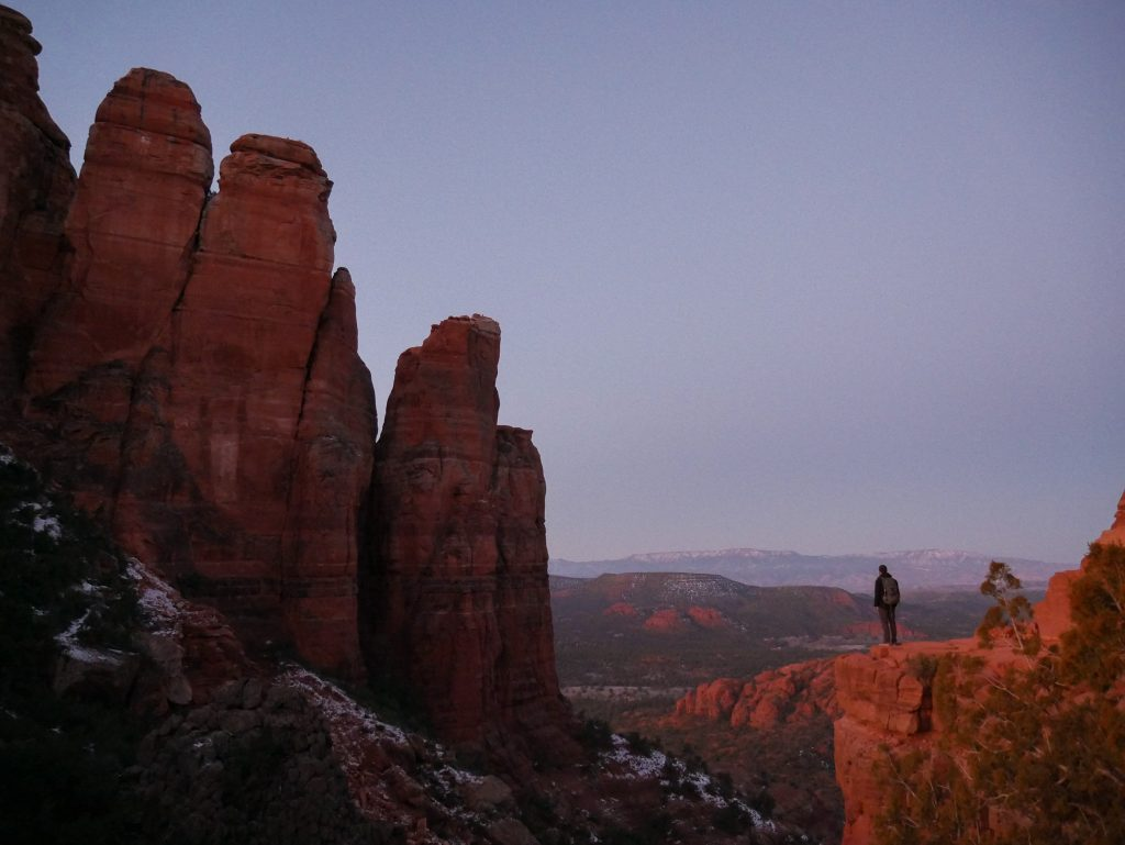 The first light of day in Sedona