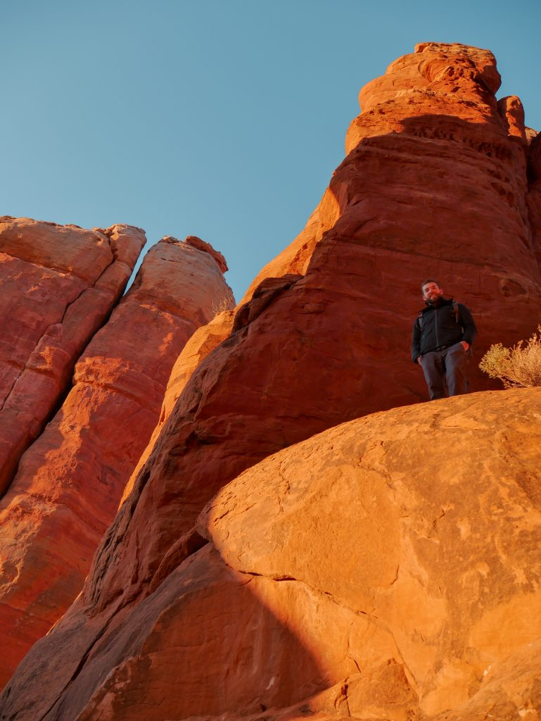The towering rock pillars of Cathedral Rock