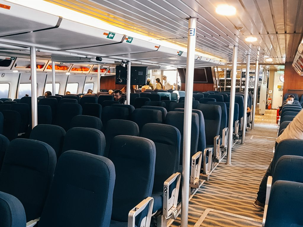 Seating on the ferry