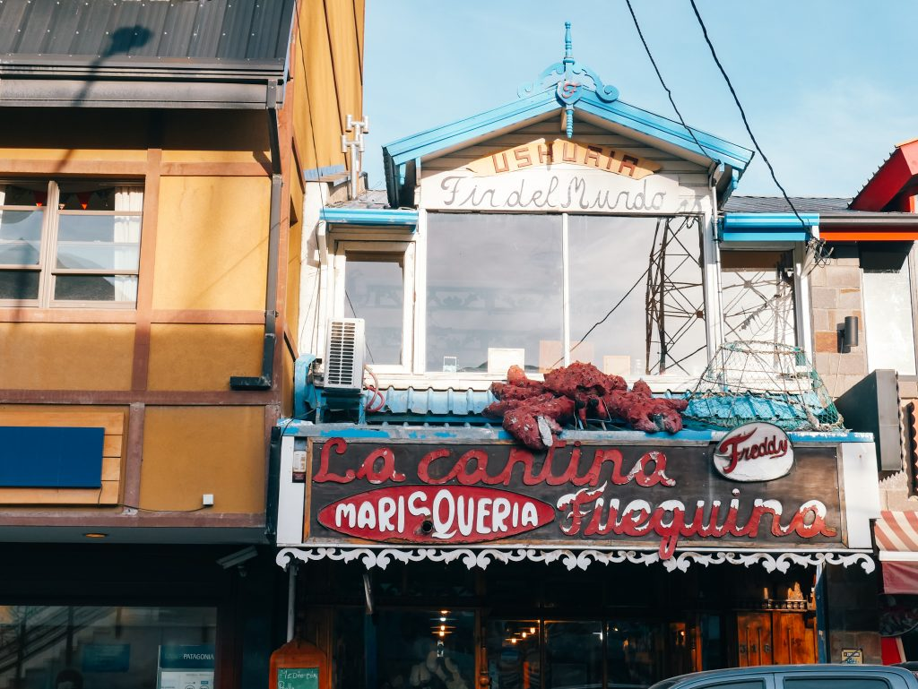 One of the many seafood joints around Ushuaia