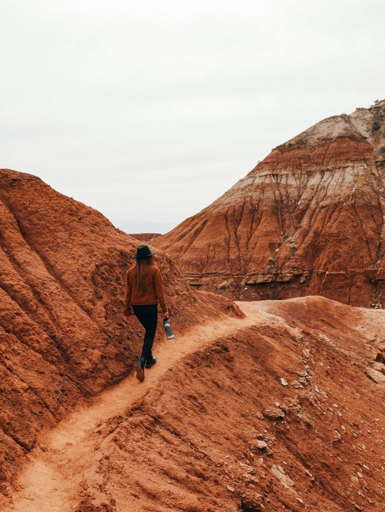 The trail through the badlands