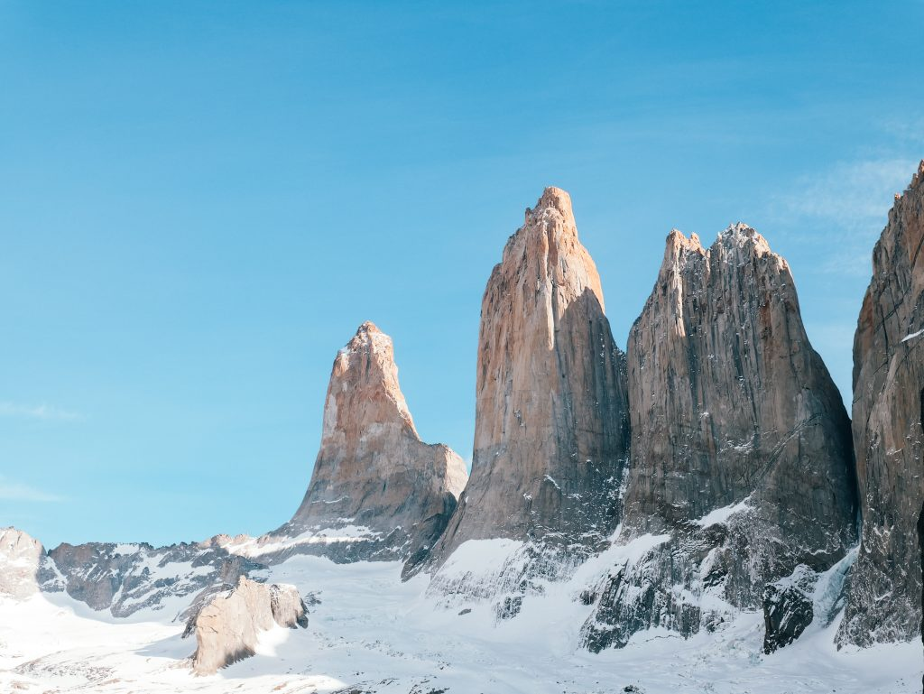 We were so happy to have a sunny day at the towers when visiting Torres del Paine in the winter
