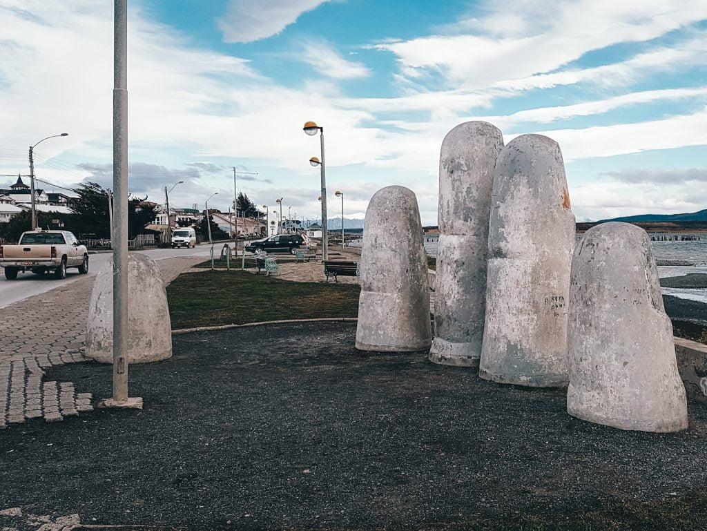 Unique sights along Puerto Natales' coastline - The Hand monument