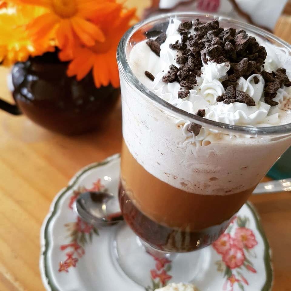 A sweet coffee treat from Chocolateria Patagonia Dulce